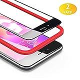 BANNIO [2 Stück Panzerglas für iPhone 6/6S [Installationsrahmen inklusive],HD Ultra-klar Panzerglasfolie Full Sreen,9H Härte,Anti-Kratzen,3D-Touch, Vollständige Abdeckung -Schwarz