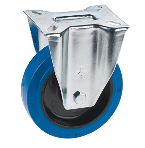 Dörner + Helmer 713657 Bockrolle mit Elastikrad u. Rollenlager 100 x 36 mm/Platte 100 x 85 mm