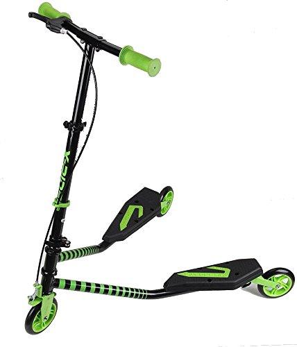Slider Fliker Roller mit 3Rädern, klappbar, Scooter, Skater, mit Bremse, grün