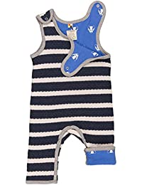 loud + proud Wendestrampler Strick, Pelele Unisex bebé, Azul (Midnight/Natural mi