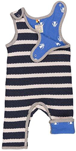 loud + proud Unisex Baby Strampler Wendestrampler Strick, Blau (Midnight/Natural Mi/Na), 92 (Herstellergröße: 86/92)