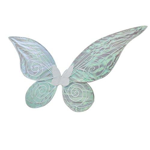 Blesiya Schmetterlingsflügel Feenflügel Farbwechsel Elfenflügel für Erwachsenen Cosplay Party Kostüm - Weiß, 62cm * 52cm (Erwachsene Fee Flügel Weiße)