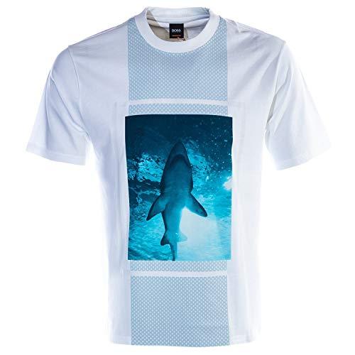 BOSS Casual Herren T-Shirt TPool 3 Weiß XXL -