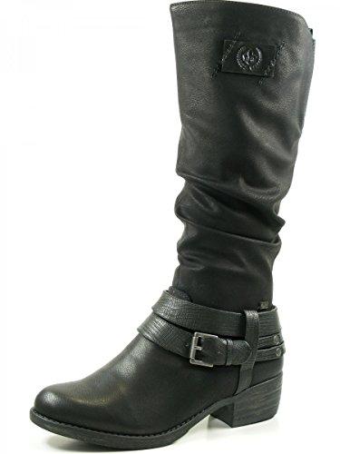 Rieker 93158, Bottes Classiques Femme Noir