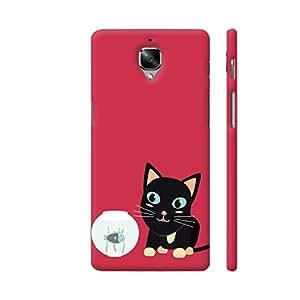 Colorpur Cat With Fish Aquarium Artwork On OnePlus 3 Cover (Designer Mobile Back Case) | Artist: Torben