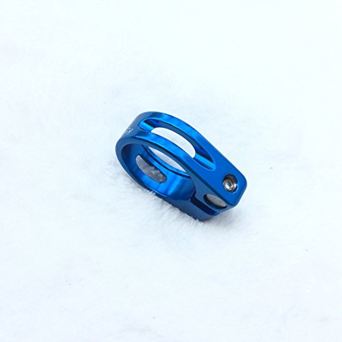 CarbonEnmy Alu Fahrrad Sattelklemme saddle clamp 30mm (Blau)