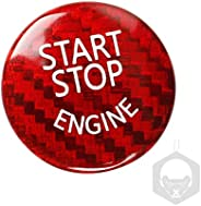 GoolRC Carbon Fibre Protector Car Engine Start Stop Switch Button Sticker Ignition Sticker Car Interior Decora