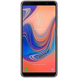"Samsung Galaxy A7 - Smartphone de 6"" (Octa Core 2.2 GHz, RAM de 4 GB, Memoria de 64 GB, cámara de 24+5+8 MP, Android) Color Oro"