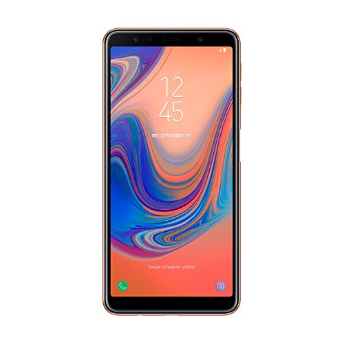 Samsung Galaxy A7 - Smartphone de 6' (Octa Core 2.2 GHz, RAM de 4 GB, Memoria de 64 GB, cámara DE 24+5+8 MP, Android) Color Oro