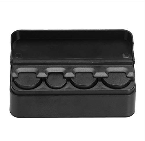 Auto Aufbewahrungsbox Schwarze Kunststoffe Auto Münze Organizer Fall Lose Ändern Geld Aufbewahrungsbox Container Geld Münze Halter Veranstalter Moeda 4 Grid - Halter 4-münze