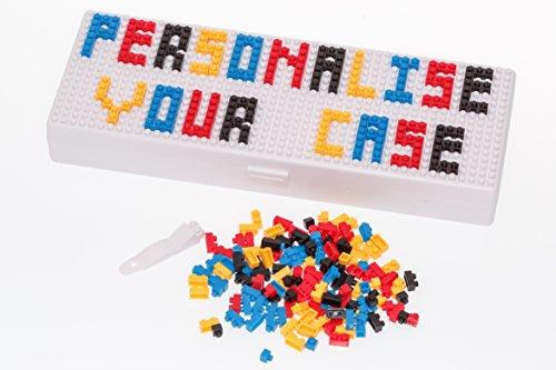 Caja de lápiz caso–personalizar con Micro ladrillos–para niños niñas y adultos uso para escuela o trabajo–microbrix