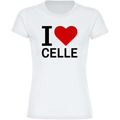 T-Shirt Classic I Love Celle weiß Damen Gr. S bis 2XL, Größe:XXL