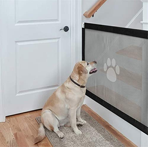 CT COUTUDI Haustiergitter, 99,1 cm, 78,7 cm, Magic Gate Gate Screen Gate for Dog Cat Pet Safety Gate for Flur, Door Way, Dog Safe Guard (Pet Gates)