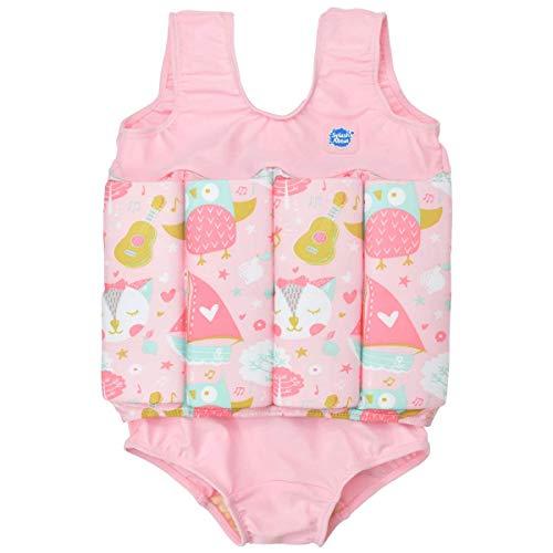 Splash About Mädchen Kinder-Schwimmanzug Mit Verstellbarem Auftrieb, Owl & The Pussycat, 2-4 Jahre