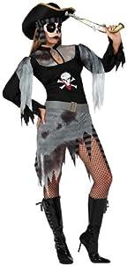 Atosa-14944 Disfraz Pirata Zombie, Color gris, X l (14944