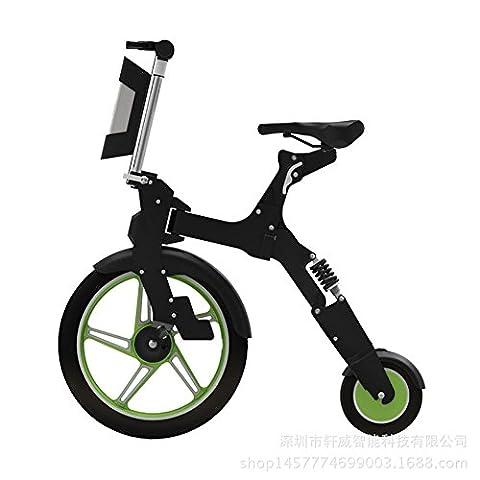 Lei HuanLeBao Unique roue avant 18 pouces avant roue arrière de 8 pouces Scooter électrique scooter Mini scooter électrique pliable , Green