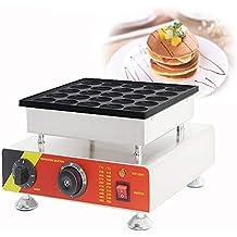 MXBAOHENG Máquina para Hacer Gofres Muffin 25 hoyos Poffertjes Grill Control de Temperatura Máquina de Gofres