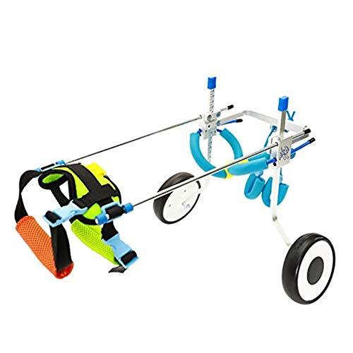 0076 RFJJAL Hund Rollstuhl 2 Räder Wagen Haustier Rollstuhl for Behinderte Hinterbeine Hund Katze/Hund/Welpe Gewicht: 8lb-22lb XS Größe