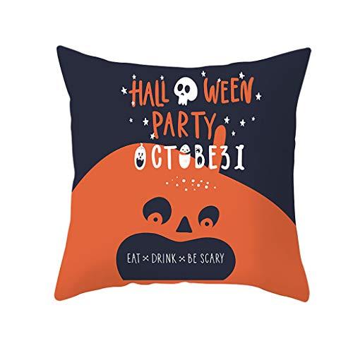 Beonzale Dekokissenbezug Halloween Pumpkin Dekorative Sofakissenbezug Taille Throw Kissenbezug