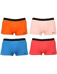 Clifton Mens Trunk Underwear Pack Of 4-Fanta Orange-Peach-Royal Blue-Water Melon-TRUNK