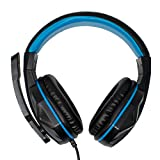 I-CHOOSE LIMITED Blu Cuffie da Gioco per Cuffie PS4 con Microfono e Controllo del Volume