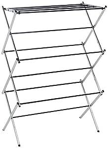 AmazonBasics Lightweight Foldable Drying Rack, Chrome