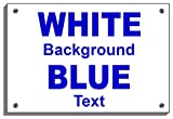 Caution Concealed Drive Weatherproof sign 5356 Aluminium, PVC or Sticker(15cm x 20cm approx 6' 8' Self Adhesive vinyl Dark Blue on White)