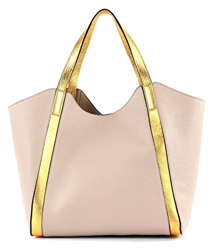COCCINELLE PERINE GOLD DOUBLE SHOULDER BAG WQ1110101 Seashell / Oro (Beige / Gold)