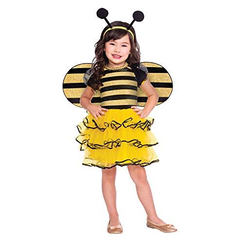 amscan- Bumble Bee 1-2 yrs Disfraz, Color yellow, black (9904178)