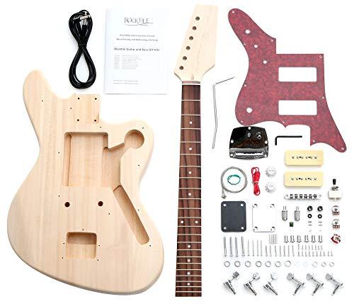 """Rocktile DIY JAG Bausatz E-Gitarre (""""Do-it-yourself"""" E-Gitarre Bausatz JAG-Style, Korpus: Linde, Hals: Ahorn geschraubt, Griffbrett: Palisander)"""