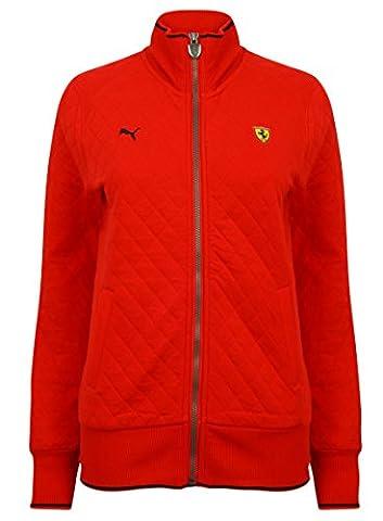 Puma X Ferrari F1 Womens Classic Quilted Sweat Track Jacket 567590-01. SIZE - SMALL.