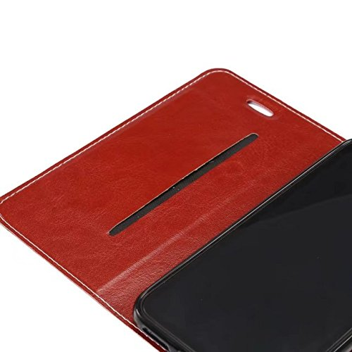 Cross Lines Texture Ultra Thin Slm Style PU Leder Schutzhülle mit Card Slots und Kickstand für iPhone X ( Color : Rose ) Red