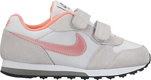 Nike Mädchen Md Runner 2 (Psv) Turnschuhe Mehrfarbig (Plateado / Coral / Pure Platinum / Lava Glow / Cool Grey / White)