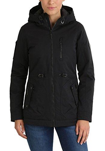 BLEND SHE Colette Damen Übergangsjacke Parka mit Stehkragen und Kapuze aus hochwertigem Material Black (70155)