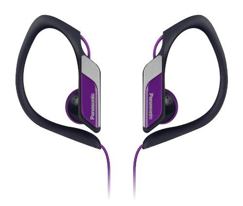 Panasonic HS34schwarz, violett im Ohr sitzend Ohrbügel, Ohrhörer Kopfhörer–Kopfhörer (im Ohr sitzend, Ohrbügel, Headset, kabelgebunden, 10–25000Hz, 1,2m, Schwarz, Violett)