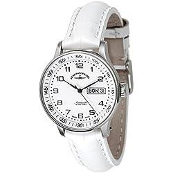 Zeno-Watch Herrenuhr - Medium Size - Day Date white - 336DD-c2