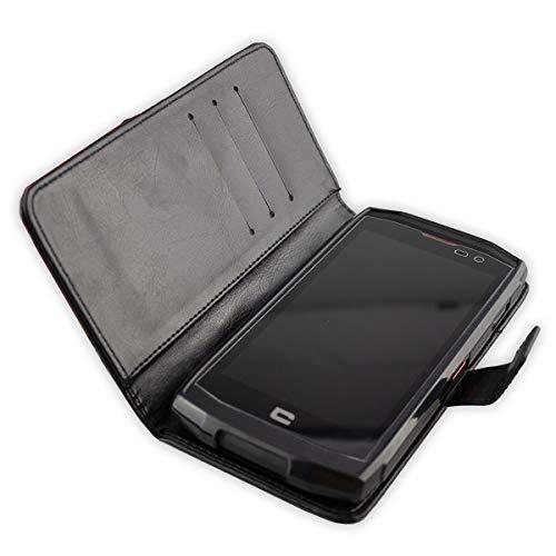 Coque pour Crosscall Trekker-X3, Bookstyle-Case Étui de Protection Antichoc pour Smartphone (Coque de Coloris Noir)