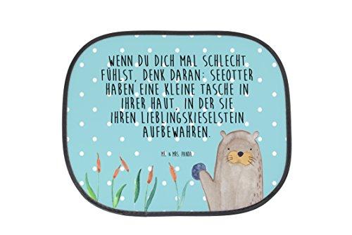 Preisvergleich Produktbild Mr. & Mrs. Panda Auto Sonnenschutz Otter mit Stein - 100% handmade in Norddeutschland - Otter Seeotter See Otter Sonnenschutz, Auto Sonnenschutz, Sonnenblende, Fenster, PKW, Kinder, Familie, Geschenk, Urlaub, Rücksitz, Sonne Otter Seeotter See Otter