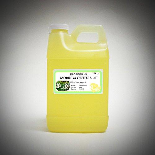 MORINGA OLEIFERA OIL BY DR.ADORABLE 100% PURE ORGANIC COLD PRESSED 64 oz/ 2 QUARTERS