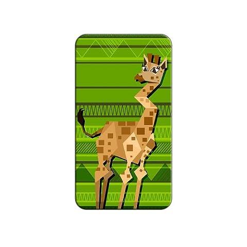 Girafe géométrique Vert revers métal chapeau chemise sac à main