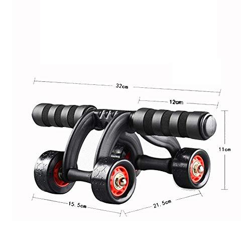 WZB Langlebige 3/4-Räder Innovatives ergonomisches Abdominal-Roller-Carving-System - Heim-Gymnastik-Boxtraining Fitnessgeräte Ab-Roller-Wheel-Fitness Fitnessgeräte rutschfest