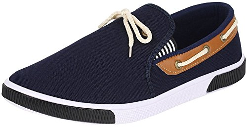 Zaiva Man's Casual Sneaker and Loafer Shoe (6, Blue)  available at amazon for Rs.198