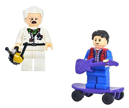 (Modbrix 2 Stück Minifiguren Zurück in die Zukunft, Doc Brown & Marty McFly)