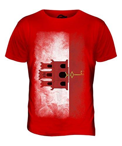 CandyMix Gibraltar Verblichen Flagge Herren T Shirt Rot