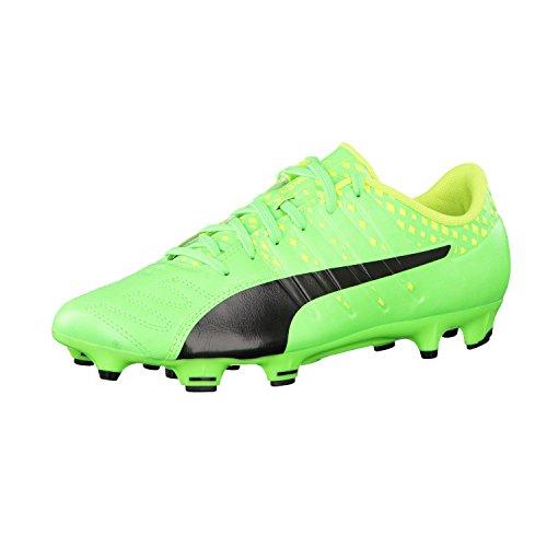 Puma Evopower Vigor 3 Lth Fg, Scarpe da Calcio Uomo Green Gecko-Puma Black-Safety Yellow