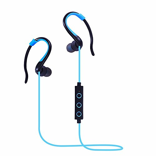 Cuffie Bluetooth,DETOME In Ear Auricolari Wireless auricolari stereo Premium Sound del Basso Sweatproof con eliminazione del rumore per qualsiasi Bluetooth dispositivi multimediali(blu)