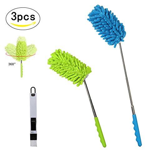 Foto de 3pcs plumero de microfibra de SEELOK de plumeros para el polvo de cepillo pequeño para polvo, limpiar esquina