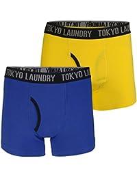 Tokyo Laundry Mens Fairholt Sport Boxer Short 2 Pack Set Designer Stretch Trunks