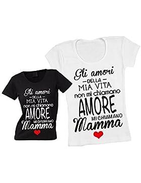Altra Marca T-Shirt Donna Maglietta Personalizzata Gli Amori della Mia Vita Maglia Femminile Estiva Idea Regalo...