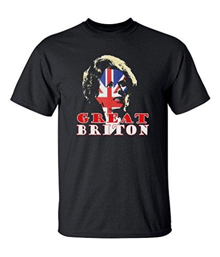 Margaret Thatcher Mens T-Shirt - Great Briton' Conservative Tory Liberal British Flag Britain England English Maggie